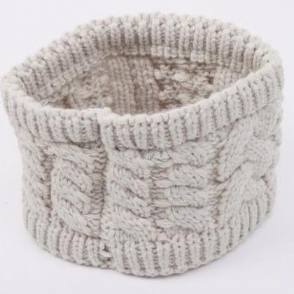 Twisted Knitted Yarn Headbands Wome..