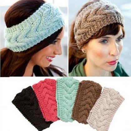 Women crochet headband ,knit hair b..